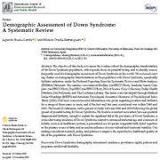 ارزیابی جمعیت شناختی سندرم داون: مرور سیستماتیک