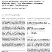 گنجاندن مدیریت زیست محیطی در چارچوب بخشها (عملکردها)