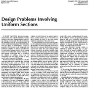 مسائل طراحی مربوط به مقاطع یکنواخت