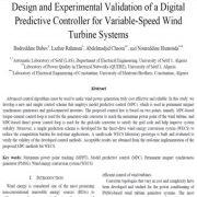 طراحی و اعتبار سنجی آزمایشی کنترل گر پیش بین دیجیتال