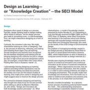 طراحی به عنوان یادگیری- یا خلق دانش- مدل SECI
