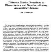 واکنشهای متفاوت بازار به تغییرات حسابداری اختیاری و غیر اختیاری