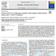 ارتباط هاپلوتایپ های SARS-COV-2 مختلف  با منشا جغرافیایی