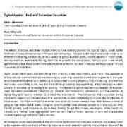 دارایی های دیجیتال: عصر اوراق بهادار