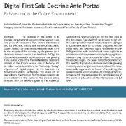 دکترین  نخستین فروش دیجیتال