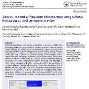 سولفنیلاسیون پیوند مستقیم C-Hآرن ها با استفاده از هیدرازید های سولفونیل