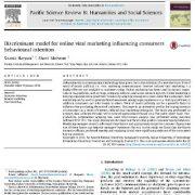 بررسی مدل تشخیصی به منظور بازاریابی وایرال آنلاین