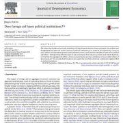 آیا کمکهای خارجی به نهادهای سیاسی آسیب میرساند؟