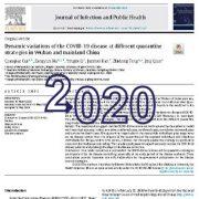 تغییرات پویا ودینامیک بیماری کوید ۱۹ در  استراتژیهای مختلف قرنطینه
