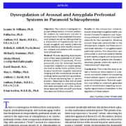 اختلال تنظیم در سیستم های انگیختگی و پیش پیشانی-آمیگدال