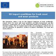 شرایط صادرات اتحادیه اروپا برای گوشت و فراوردههای گوشتی تازه