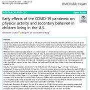 اثرات اولیه همه گیری کوید ۱۹- روی فعالیت جسمانی و رفتار بی تحرکی در کودکان آمریکایی