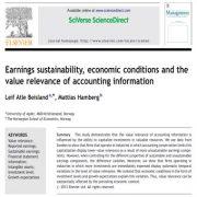 پایداری  درآمدها، شرایط اقتصادی و اهمیت ارزش اطلاعات حسابداری