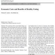 هزینههای اقتصادی و مزایای خوردن سالم