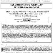 تأثیر ساختار سرمایه بر عملکرد مالی شرکتهای ساختمانی