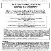 تأثیر صلاحیت و صداقت بر عملکرد سازمانی از طریق تعهد سازمانی