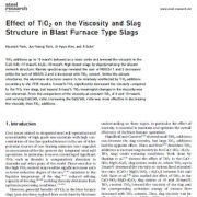اثر TiO2 بر ویسکوزیته و ساختار پسماند در فلزات نوع کورههای حرارت دهی