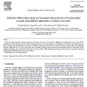 ویژگیهای انتقال منفذی و انتشار مؤثر مونولیت سرامیکی کاتالیزوری