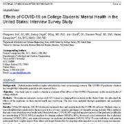 اثرات COVID-19 بر سلامت روان دانشجویان دانشگاه در ایالات متحده