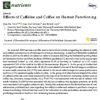 اثرات کافئین و قهوه بر عملکرد انسان