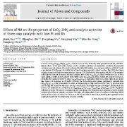 اثرات Nd بر روی خصوصیات اکسید سریم – دی اکسید زیرکونیم