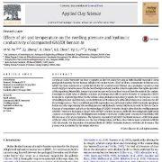 بررسی اثرات اسیدیته و درجه حرارت بر روی فشار آماس و رسانش هیدرولیکی