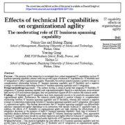 تأثیر قابلیتهای فناوری اطلاعات بر چابکی سازمانی نقش تعدیل کننده قابلیت های پویش