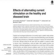 تاثیرات تحریک جریان الکتریکی و برق متناوب روی مغز سالم و غیر سالم