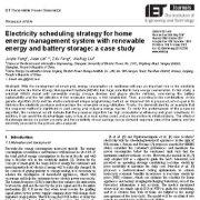 راهبرد زمان بندی الکتریسیته برای سیستم مدیریت انرژی خانه