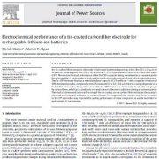 عملکرد الکتروشیمیایی الکترود فیبرکربن با پوشش قلع