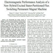 تحلیل عملکرد الکترومغناطیسی ماشین آهنربای دایمی