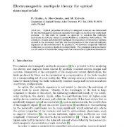 نظریه چند قطبی الکترومغناطیسی برای نانومواد نوری