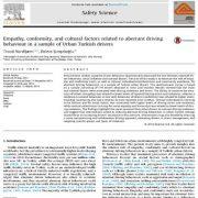 عوامل فرهنگی، انطباق و همدلی مربوط به رفتار رانندگی ناهنجار