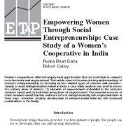 توانمند سازی زنان از طریق کارآفرینی اجتماعی: شرکتهای تعاونی زنان