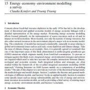 مدل سازی انرژی- اقتصاد- محیط زیست:یک نظر سنجی