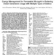 مدیریت انرژی برای میکروگرید تجدید پذیر در کاهش مصرف ژنراتورهای دیزلی