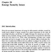 مسائل امنیت انرژی