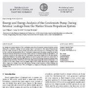 تحلیل انرژی و اکسرژی پمپ کندانس (میعانات) در طی نشت داخلی