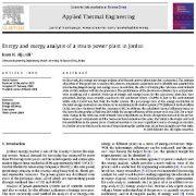 "<span itemprop=""name"">تجزیه و تحلیل انرژی و اکسرژی نیروگاه بخار در اردن</span>"