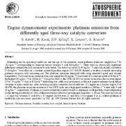 آزمایشات دینامومتر موتور: انتشار پلاتینوم از مبدلهای کاتالیستی