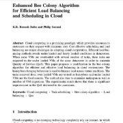 الگوریتم کلونی پیشرفته زنبور عسل برای حفظ تعادل کارآمد بار و برنامه ریزی در ابر