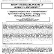 آموزش کارآفرینی و سیستم آموزشی در کشورهای در حال توسعه: مسائل نوظهور، چالشها