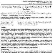 حسابداری زیست محیطی و پایداری شرکت: یک تحقیق ترکیبی