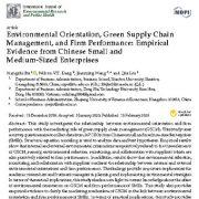 "<span itemprop=""name"">گرایش زیست محیطی،  مدیریت زنجیره تامین سبز و عملکرد شرکت</span>"