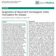 اپی ژنتیک دوقلوهای همسان ناسازگار: مفاهیمی برای بیماری