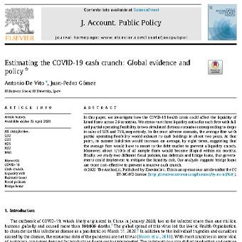 برآورد  بحران نقدینگی ناشی از Covid-19: سیاست و شواهد جهانی