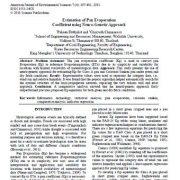 برآورد ضریب تبخیر تشتکی با استفاده از رویکرد عصبی – ژنتیکی