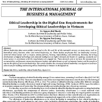 رهبری اخلاقی در عصر دیجیتال: الزامات توسعه رهبری اخلاقی در ویتنام