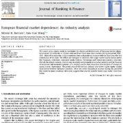 بررسی وابستگی بازار مالی اتحادیه ی اروپا: یک تحلیل صنعتی