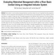 ارزشیابی آبخیزداری در حوزه رودخانه ای  با استفاده از سیستم شاخص یکپارچه